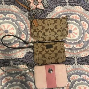 Coach Wristlets $55 for all 3 or $20 individually
